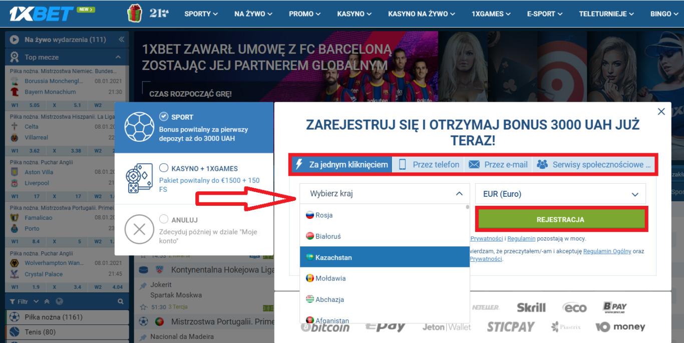 Informacje o biurze 1xBet Polska bukmacher